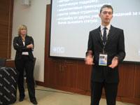 Иван Ковальчук - менеджер программы авторизованных учебный центров ATC, Евгения Тучкевич - руководитель ATC Autodesk СПбГПУ