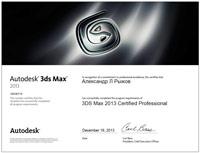 сертификат компании Autodesk
